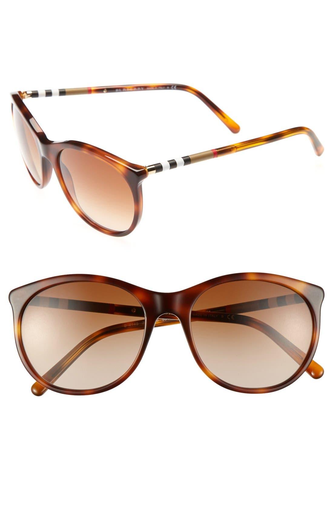 Main Image - Burberry 55mm Cat Eye Sunglasses