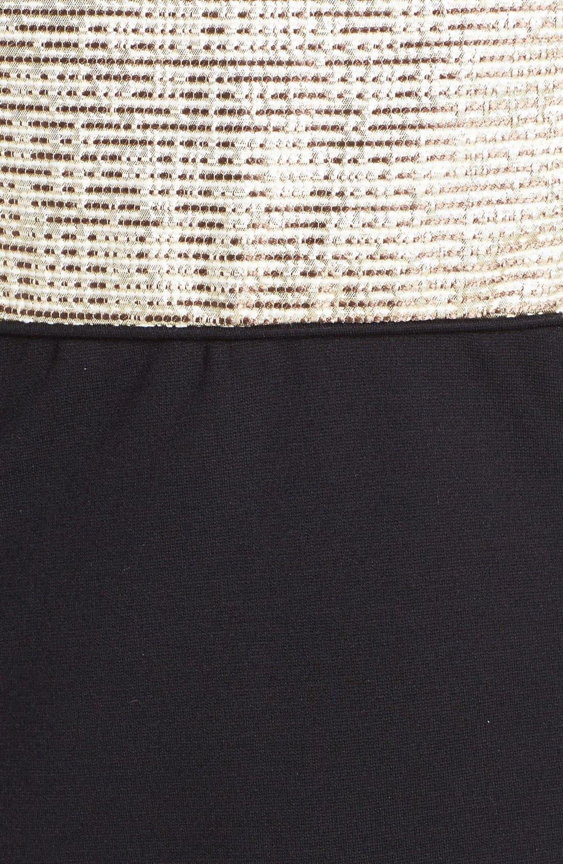 Alternate Image 3  - 4.collective Metallic Panel Knit Sheath Dress