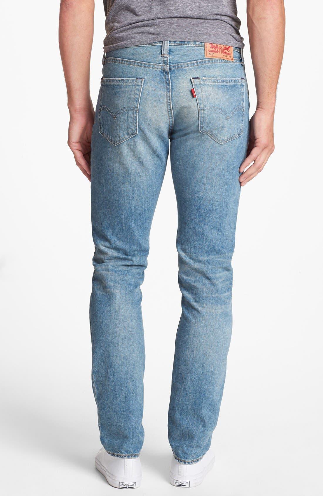 Main Image - Levi's® '511' Skinny Jeans (Whiskey)