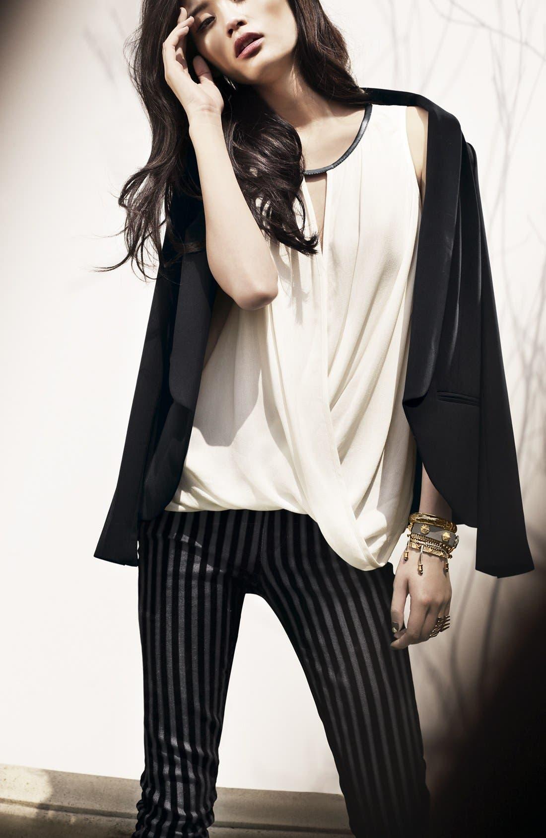 Alternate Image 4  - Paige Denim Flocked Skinny Jeans (Flocked Stripe)