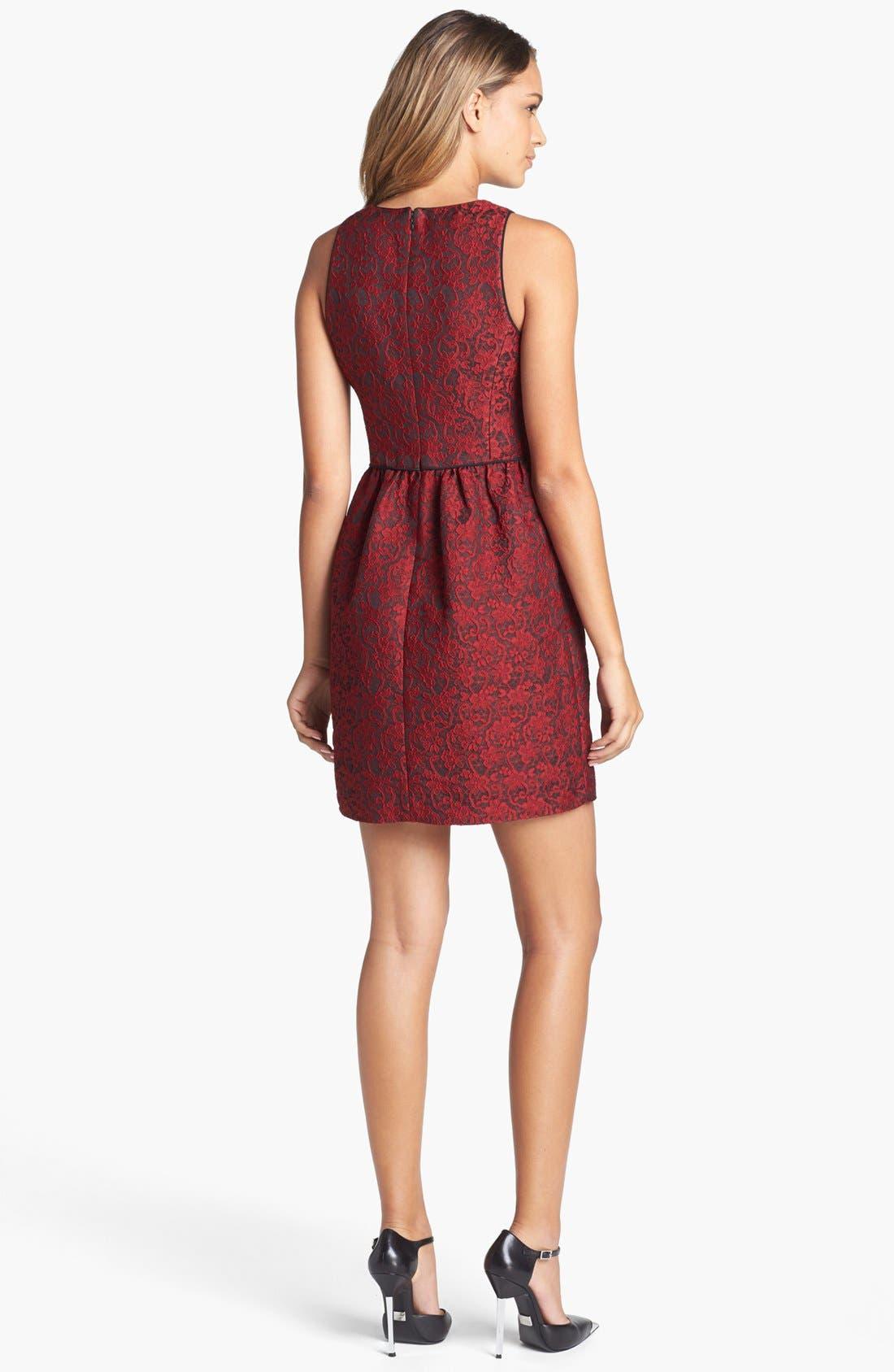 Alternate Image 2  - 4.collective Lace Appliqué Sheath Dress