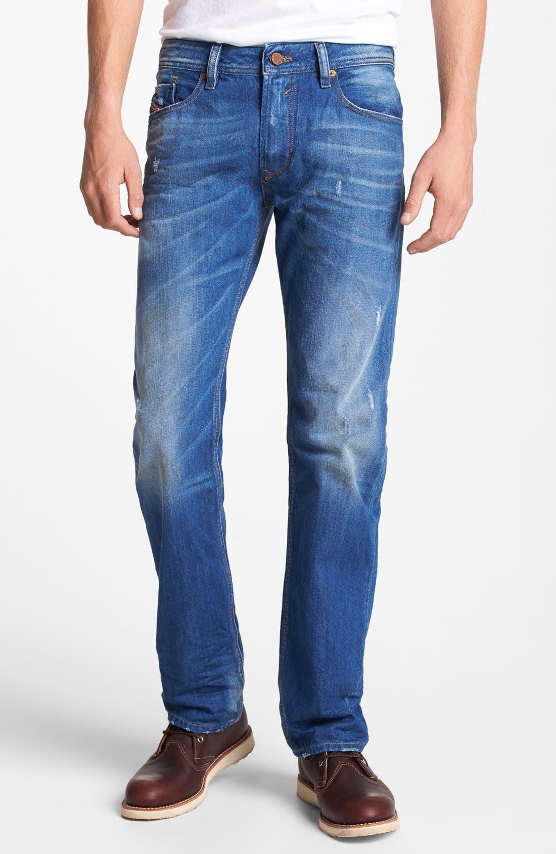 Alternate Image 1 Selected - DIESEL® 'Waykee' Straight Leg Jeans (0823U)
