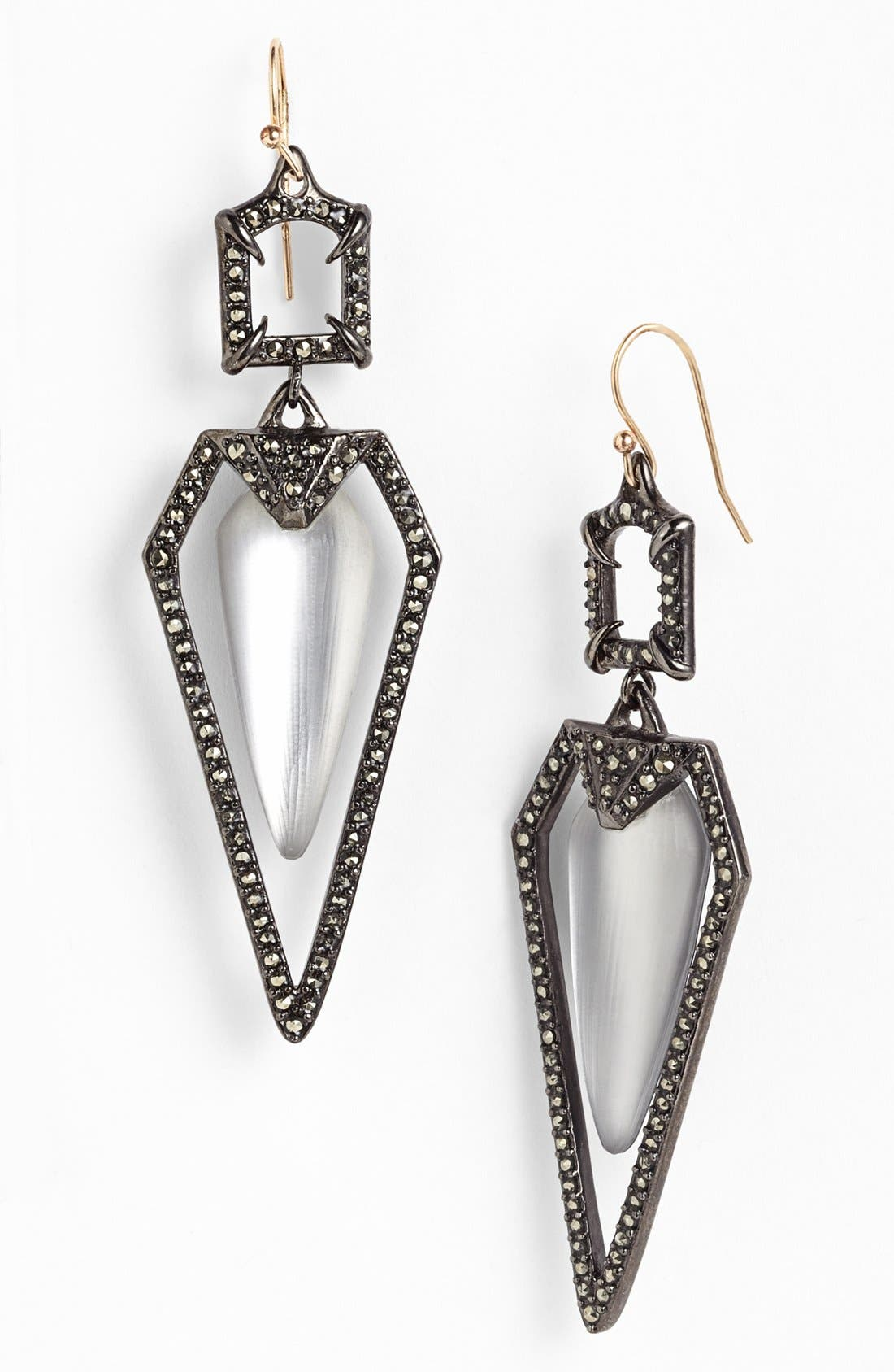 Alternate Image 1 Selected - Alexis Bittar 'Lucite® - Santa Fe Deco' Long Pavé Framed Drop Earrings