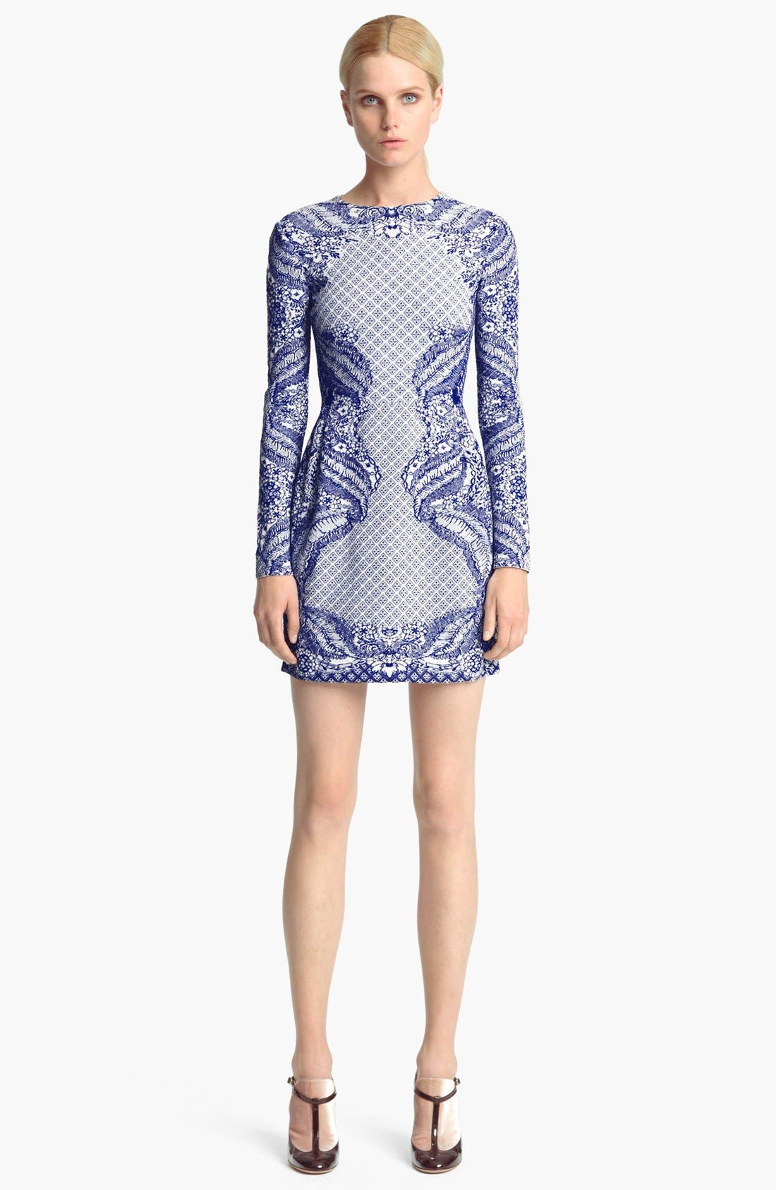 Main Image - Valentino Embroidered Knit Dress