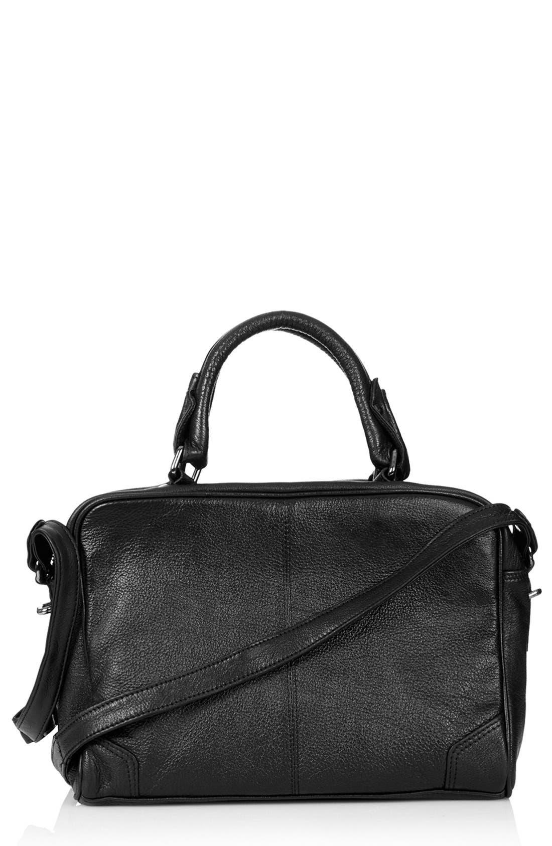 Alternate Image 1 Selected - Topshop 'Medium' Leather Satchel