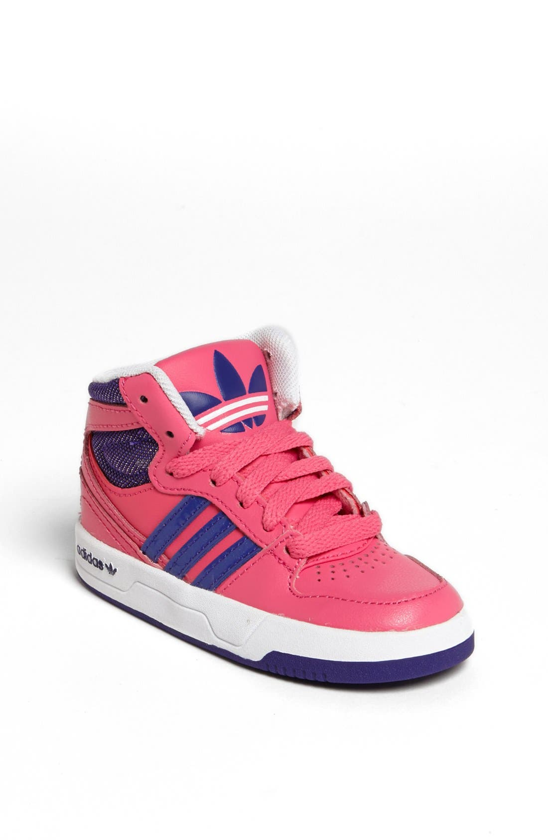 Alternate Image 1 Selected - adidas 'Court Attitude' Sneaker (Baby, Walker & Toddler)
