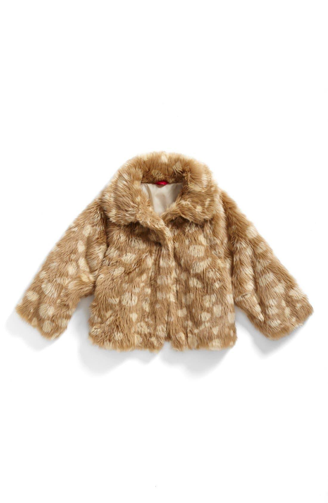Main Image - Ruby & Bloom 'Mia' Faux Fur Coat (Big Girls)