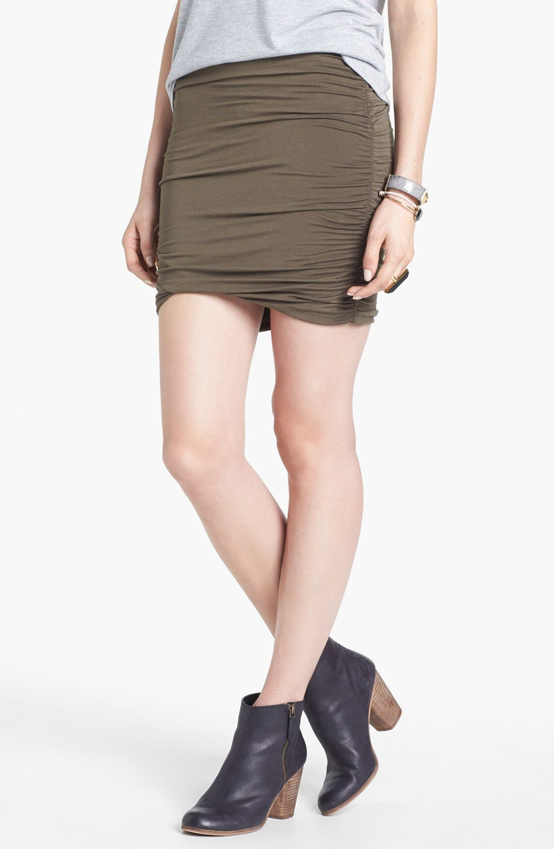 Alternate Image 1 Selected - Free People Ruched Skirt