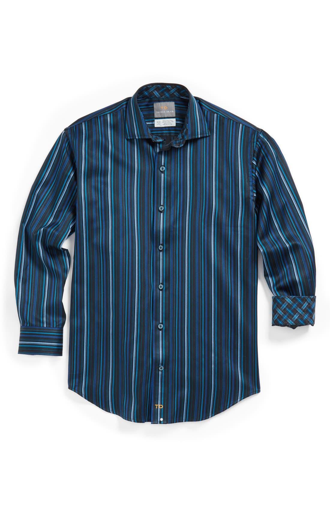 Alternate Image 1 Selected - Thomas Dean Sport Shirt (Big Boys)