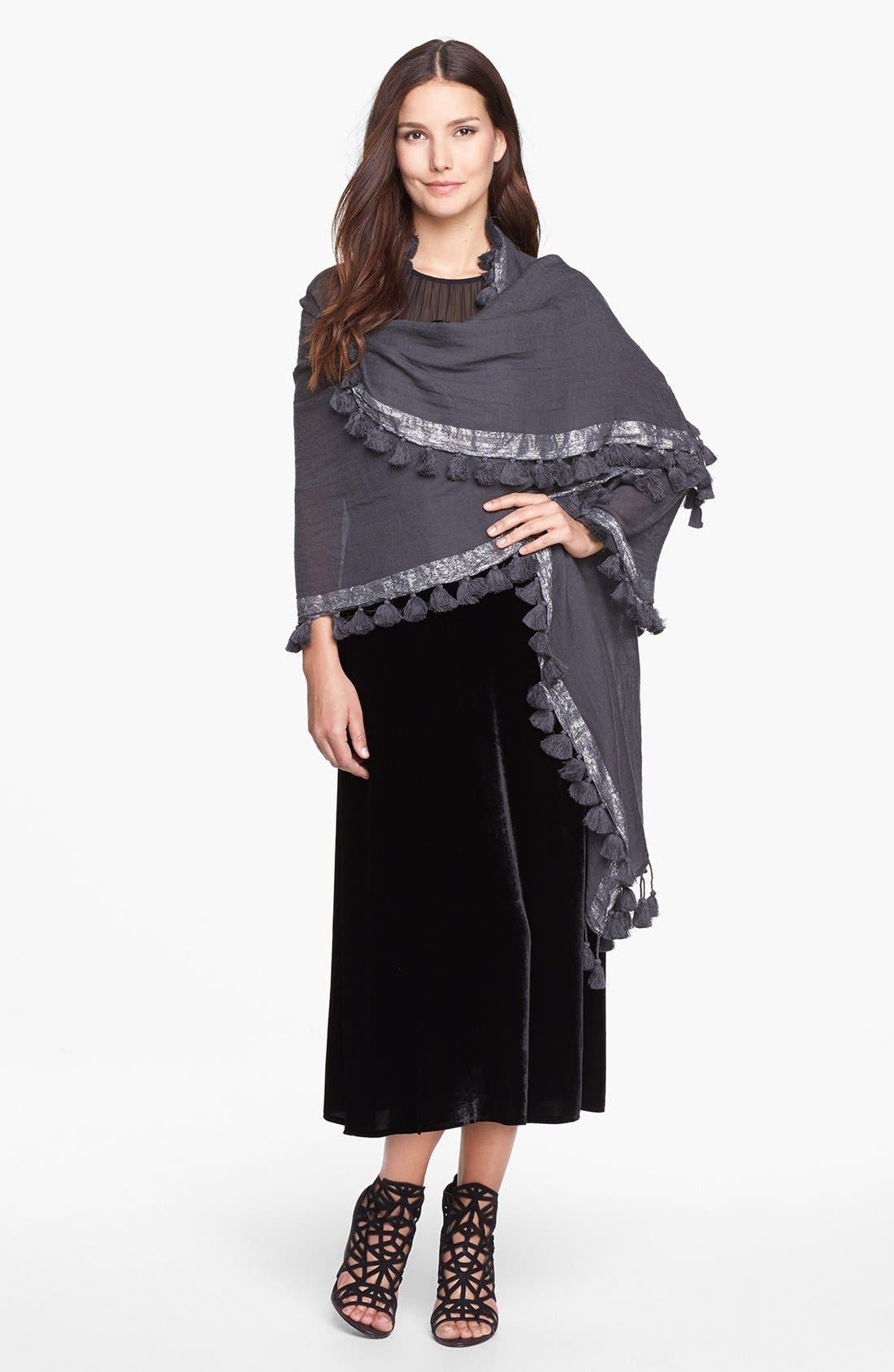 Alternate Image 4  - Eileen Fisher Washable Velvet & Silk Dress