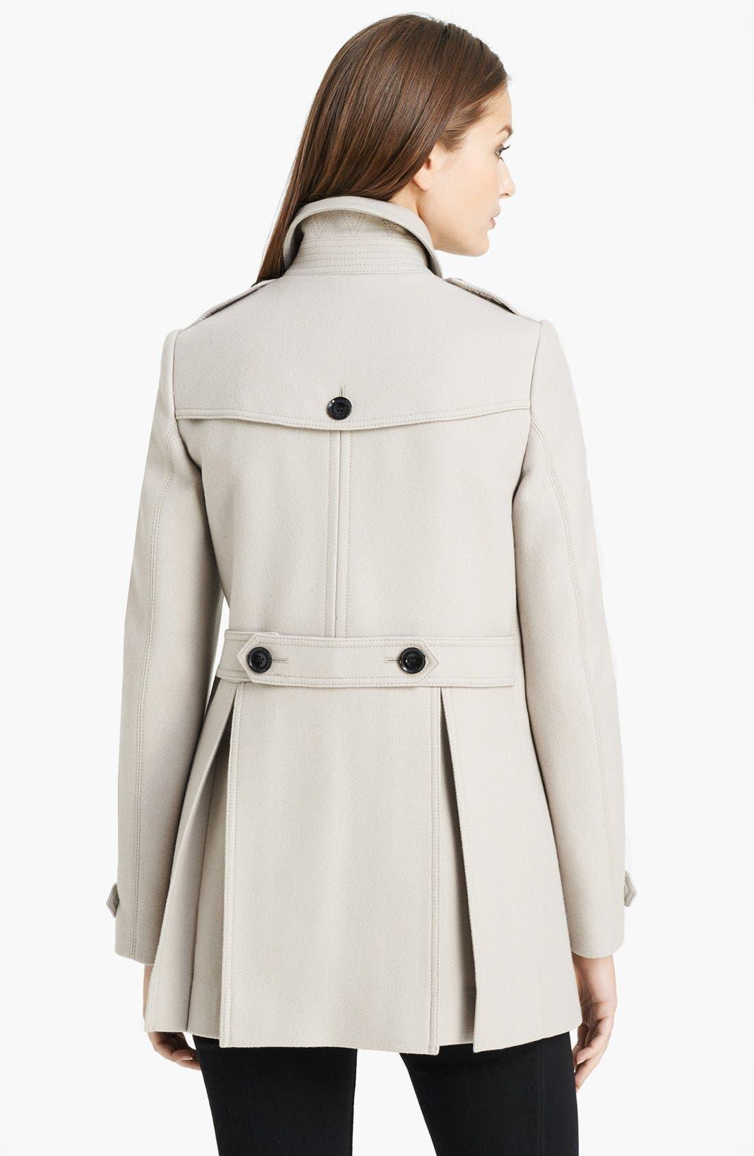 Alternate Image 2  - Burberry Brit 'Charlestead' Wool Blend Coat