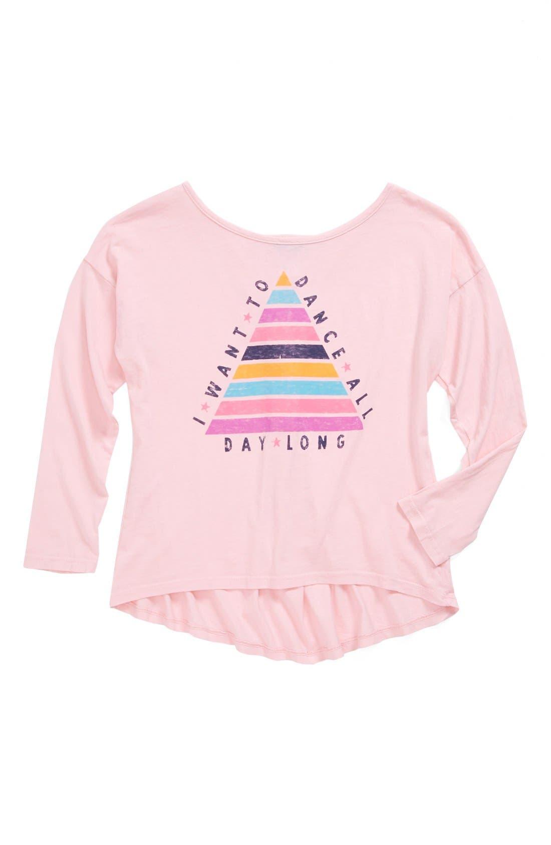 Alternate Image 1 Selected - Junk Food 'I Want to Dance' T-Shirt (Big Girls)
