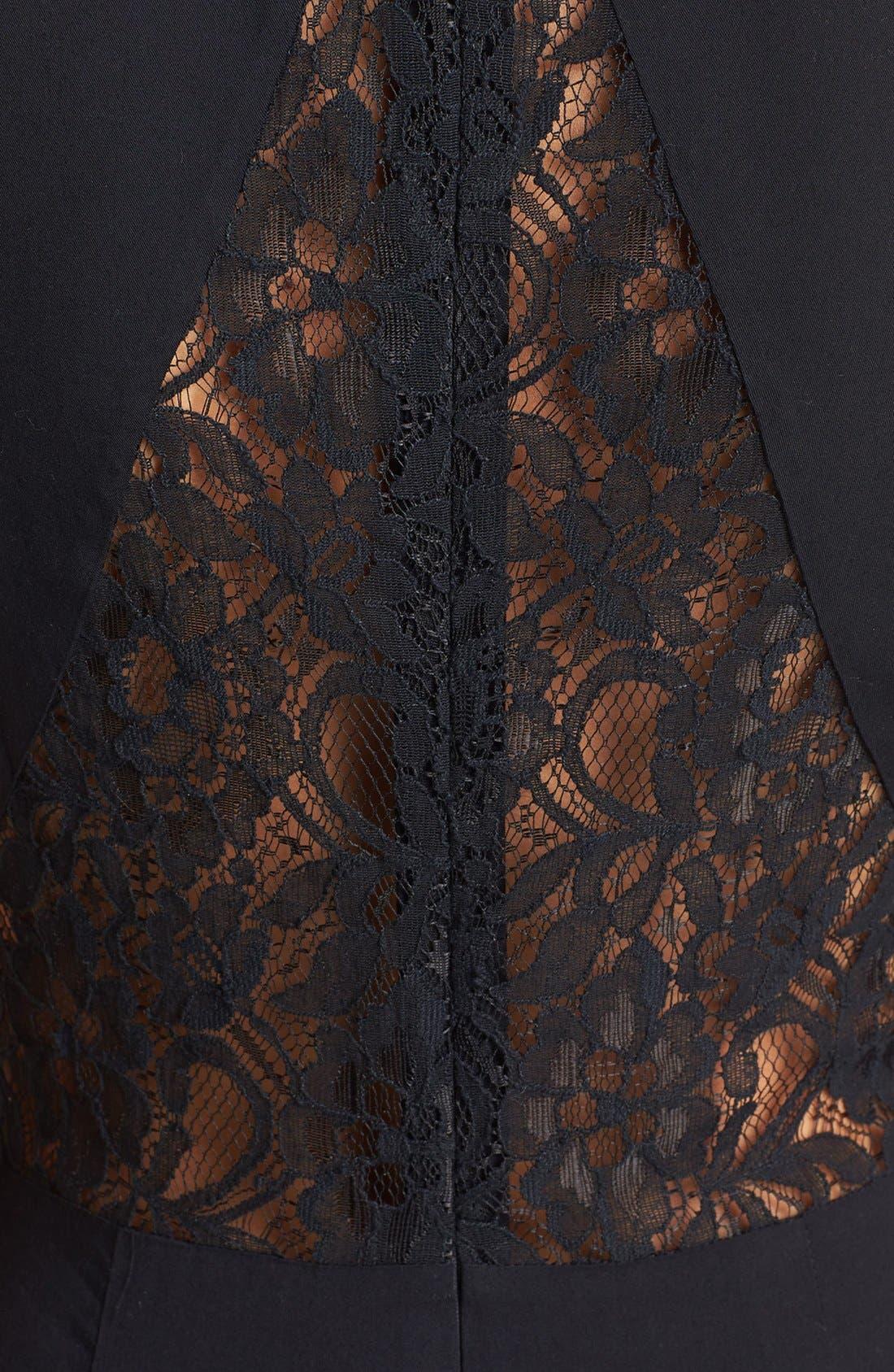 Alternate Image 2  - Like Mynded Lace Inset Jumpsuit