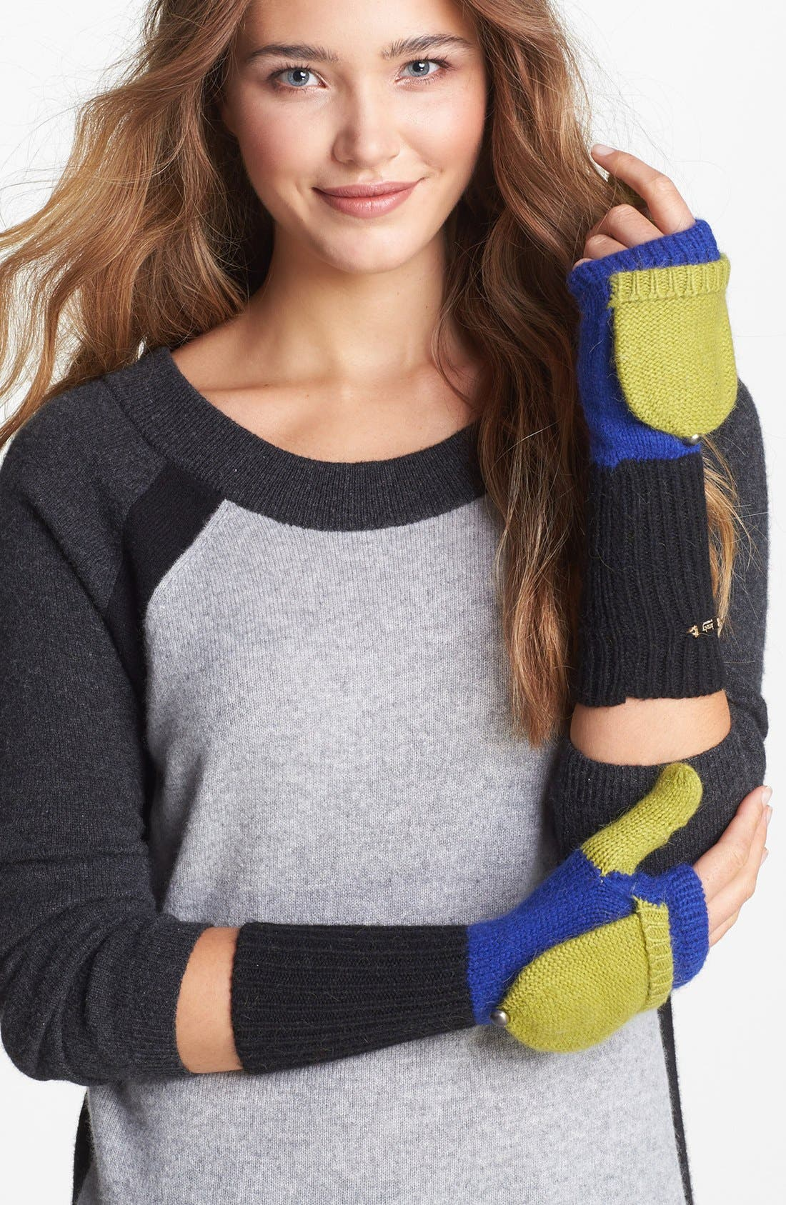 Alternate Image 1 Selected - Laundry by Shelli Segal Colorblock Convertible Mittens