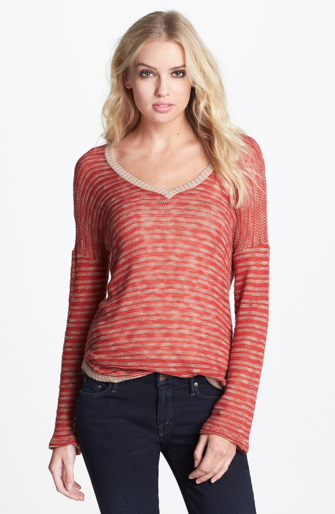Alternate Image 1 Selected - Splendid 'Fireside' V-Neck Sweater