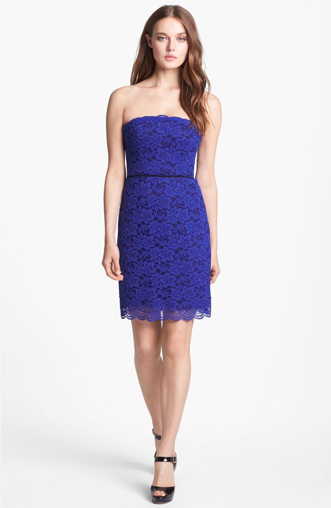 Main Image - Diane von Furstenberg 'Walker' Lace Tube Dress