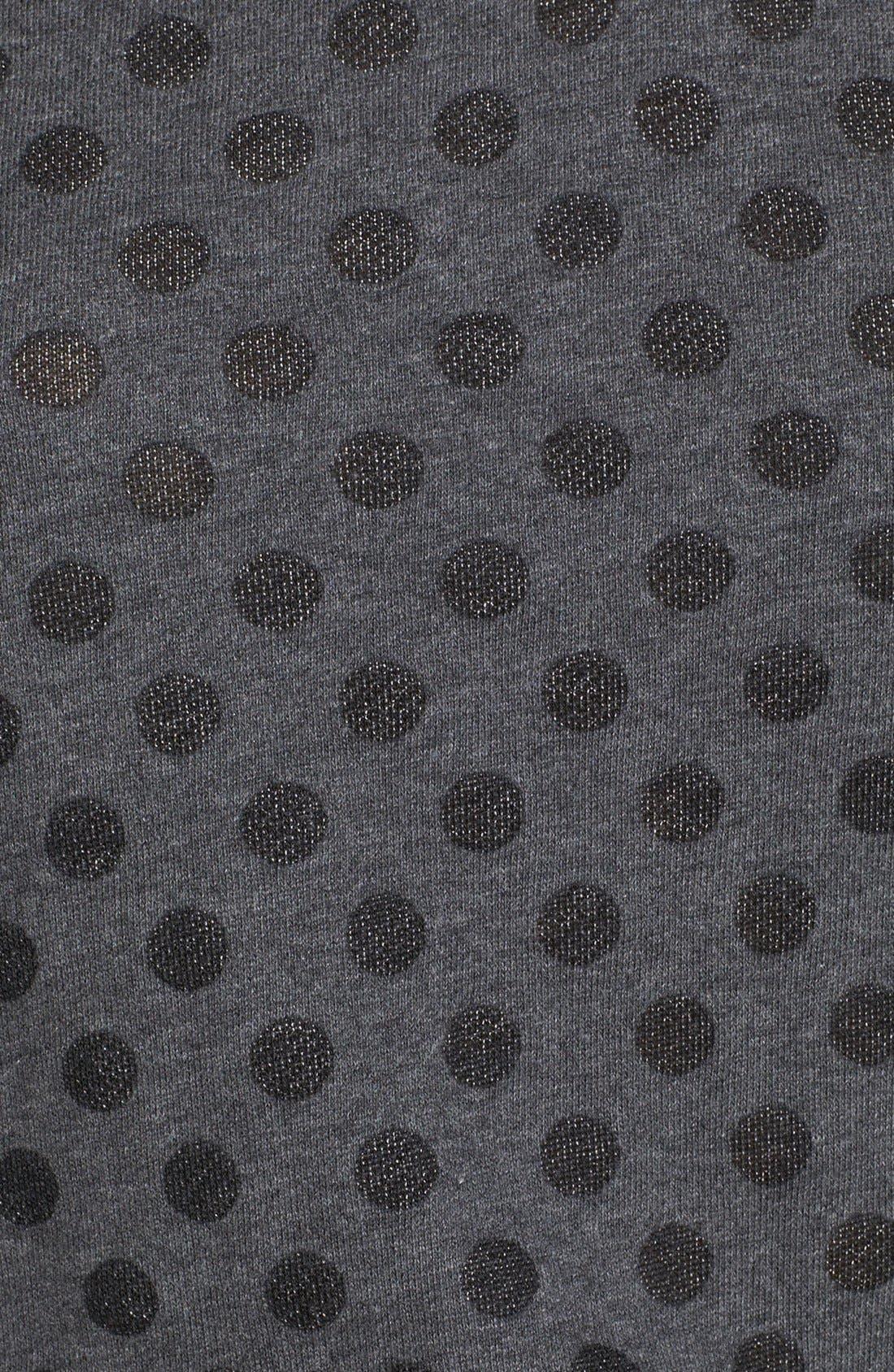 Alternate Image 3  - Halogen® Burnout Dot Sweatshirt