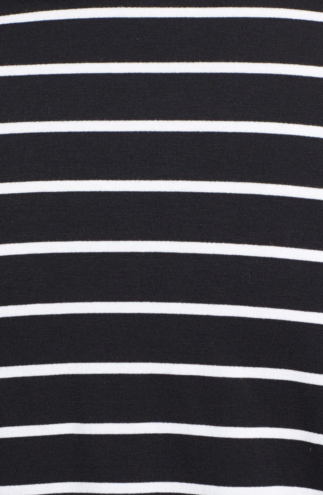 Stripe Fleece Wrap,                             Alternate thumbnail 3, color,                             Ivory Stripe