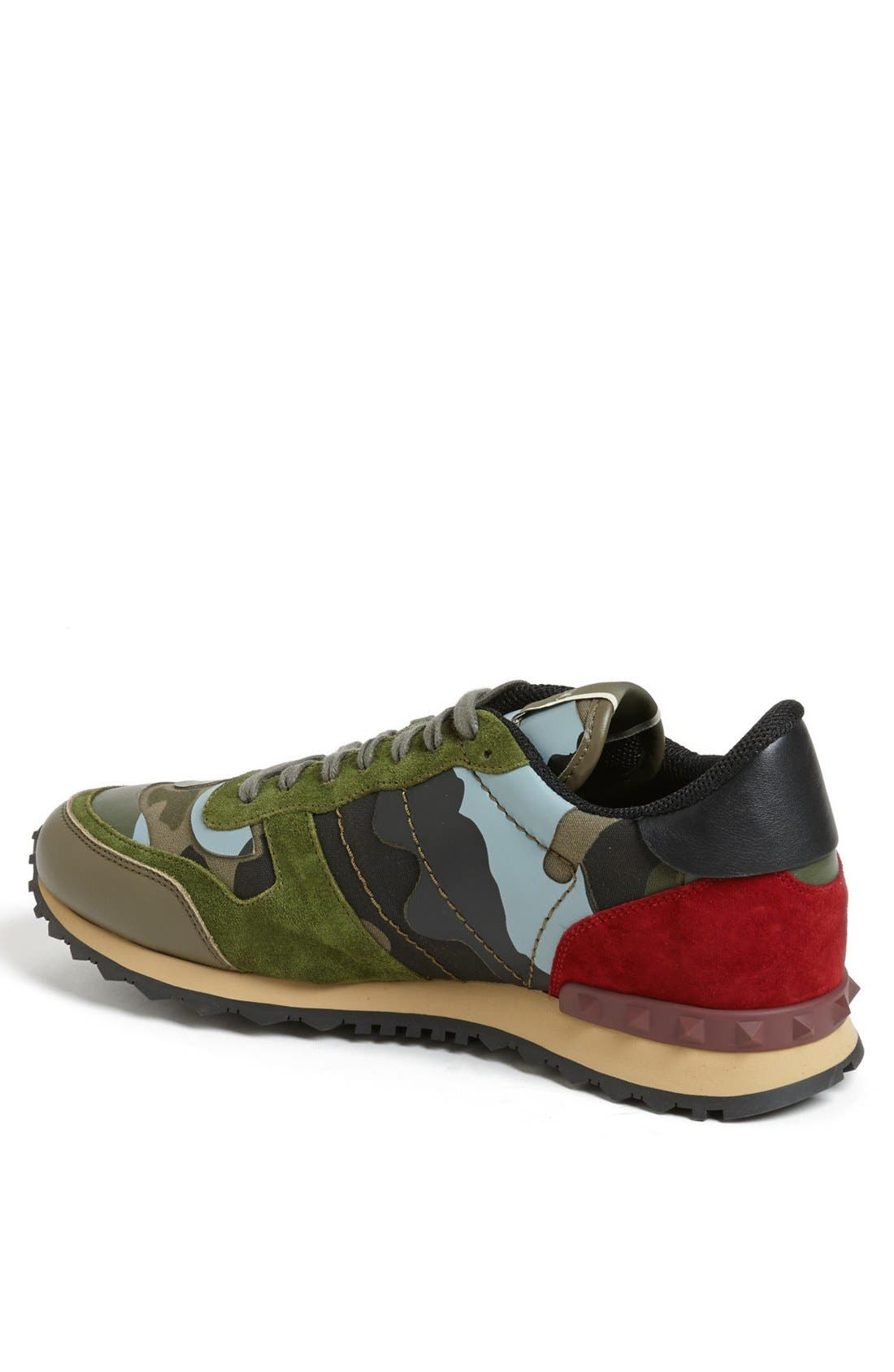 Camouflage Sneaker,                             Alternate thumbnail 2, color,                             Army Green