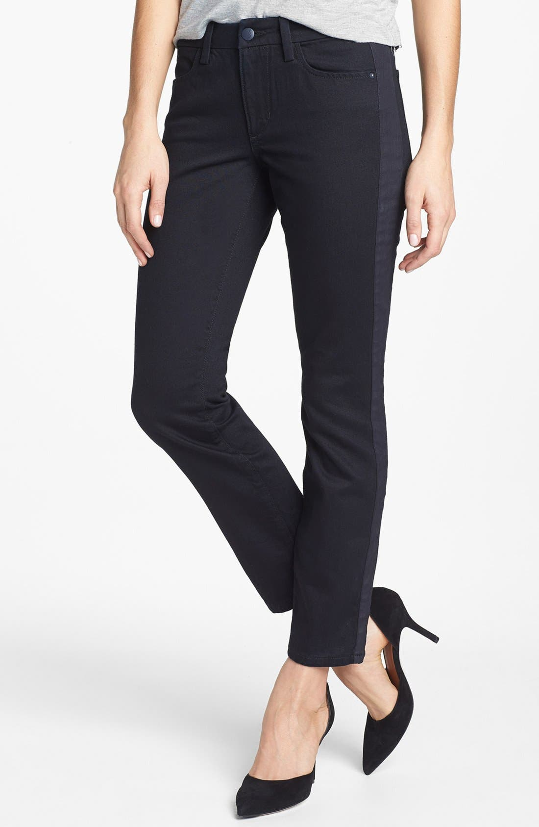 Alternate Image 1 Selected - Joe's Tuxedo Stripe Skinny Ankle Jeans (Pia)