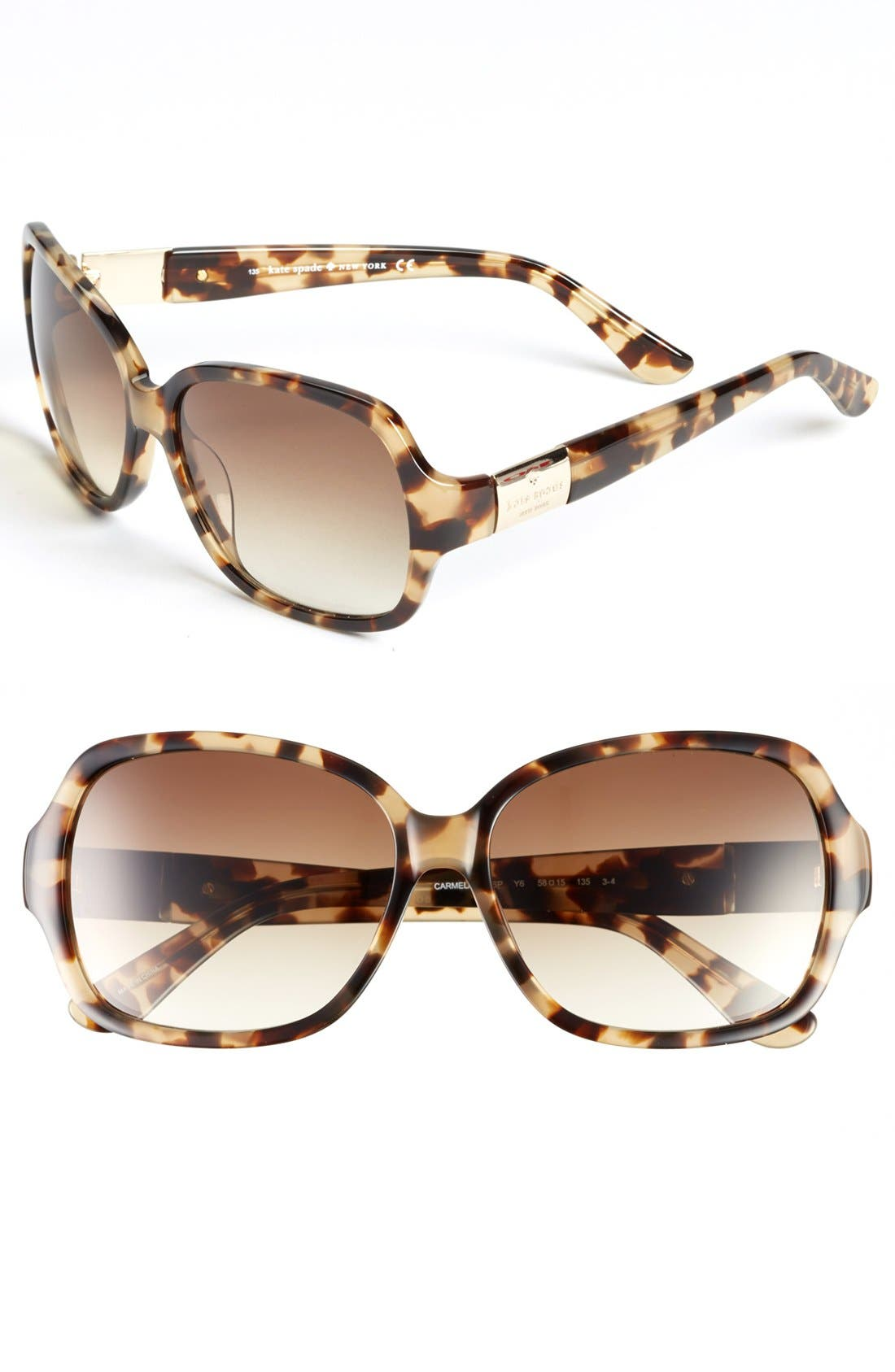 Alternate Image 1 Selected - kate spade new york 'carmel' 58mm sunglasses