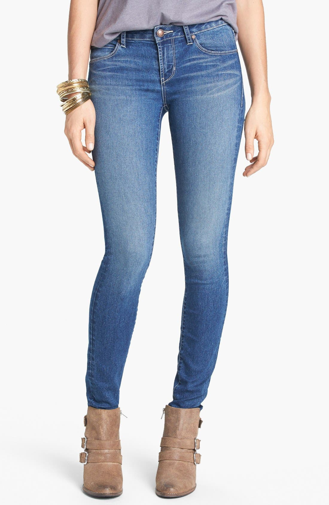 Alternate Image 1 Selected - Articles of Society 'Mya Vintage' Skinny Jeans (Medium) (Juniors)