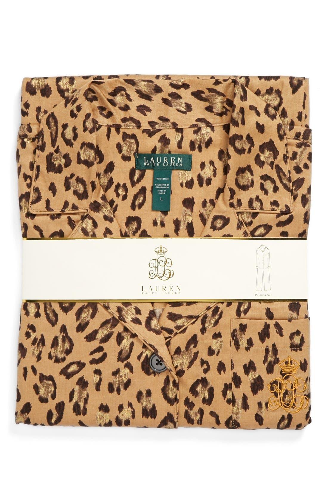 Alternate Image 4  - Lauren Ralph Lauren Sateen Pajamas