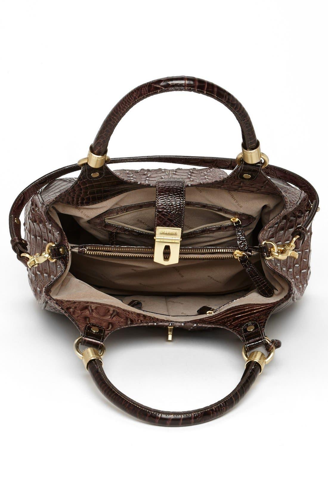Alternate Image 5  - Brahmin Elisa Croc Embossed Leather Shoulder Bag
