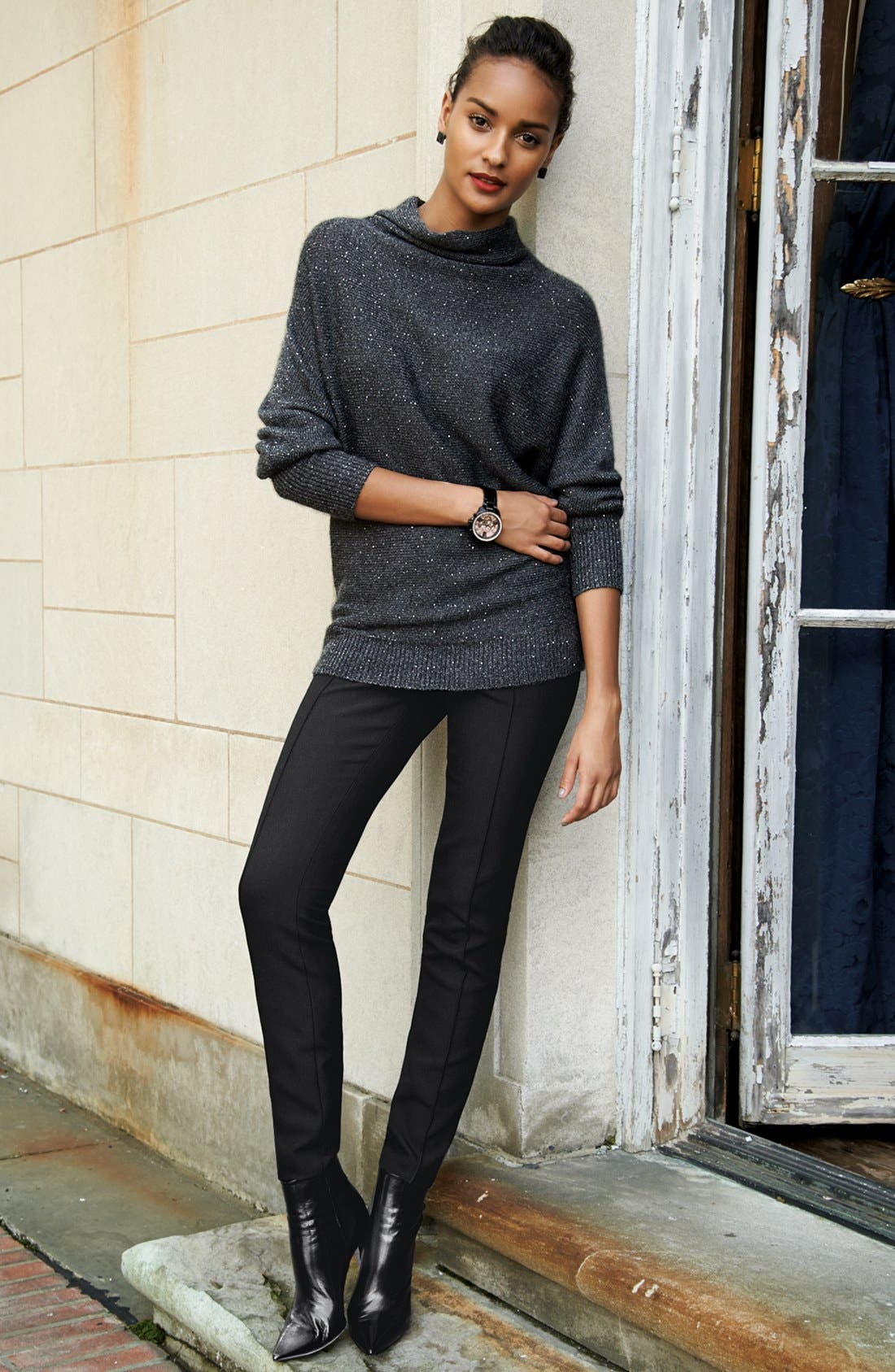 Alternate Image 4  - Classiques Entier® 'City Weave' Skinny Ankle Pants