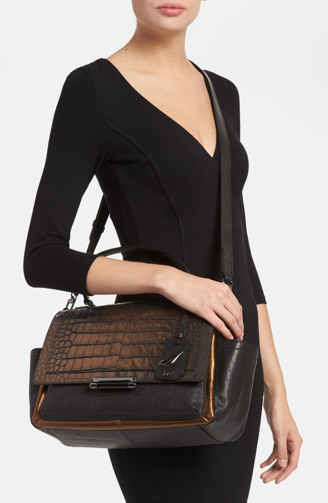 Alternate Image 2  - Diane von Furstenberg 'Highline Courier' Leather Satchel
