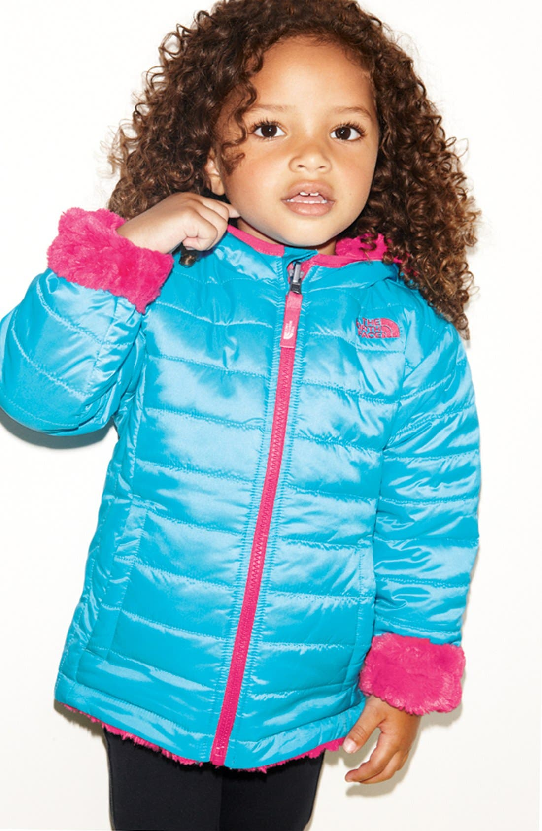 Alternate Image 3  - The North Face 'Mossbud Swirl' Reversible Water Repellent Jacket(Toddler Girls)