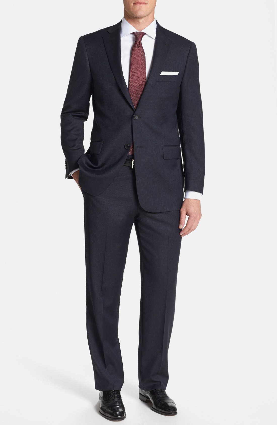 Alternate Image 1 Selected - Hart Schaffner Marx 'New York' Classic Fit Stripe Suit