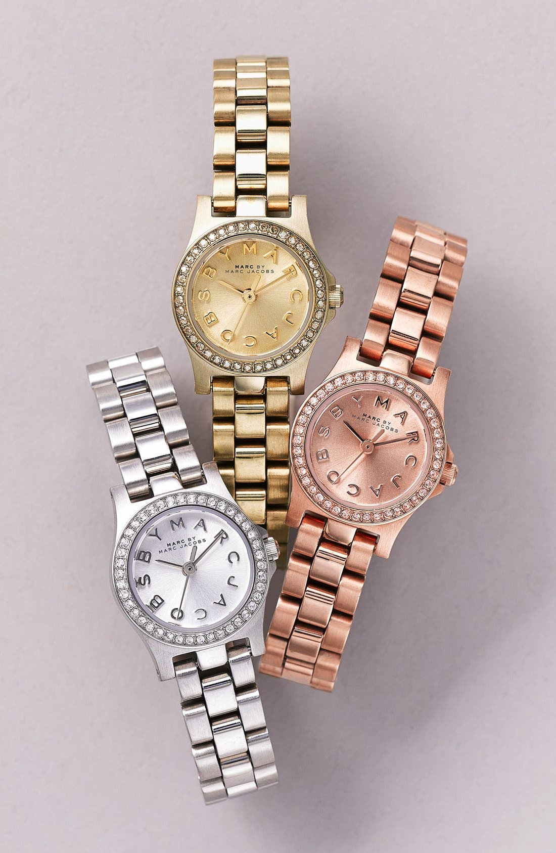 Alternate Image 4  - MARC JACOBS 'Henry Dinky' Crystal Bracelet Watch, 21mm