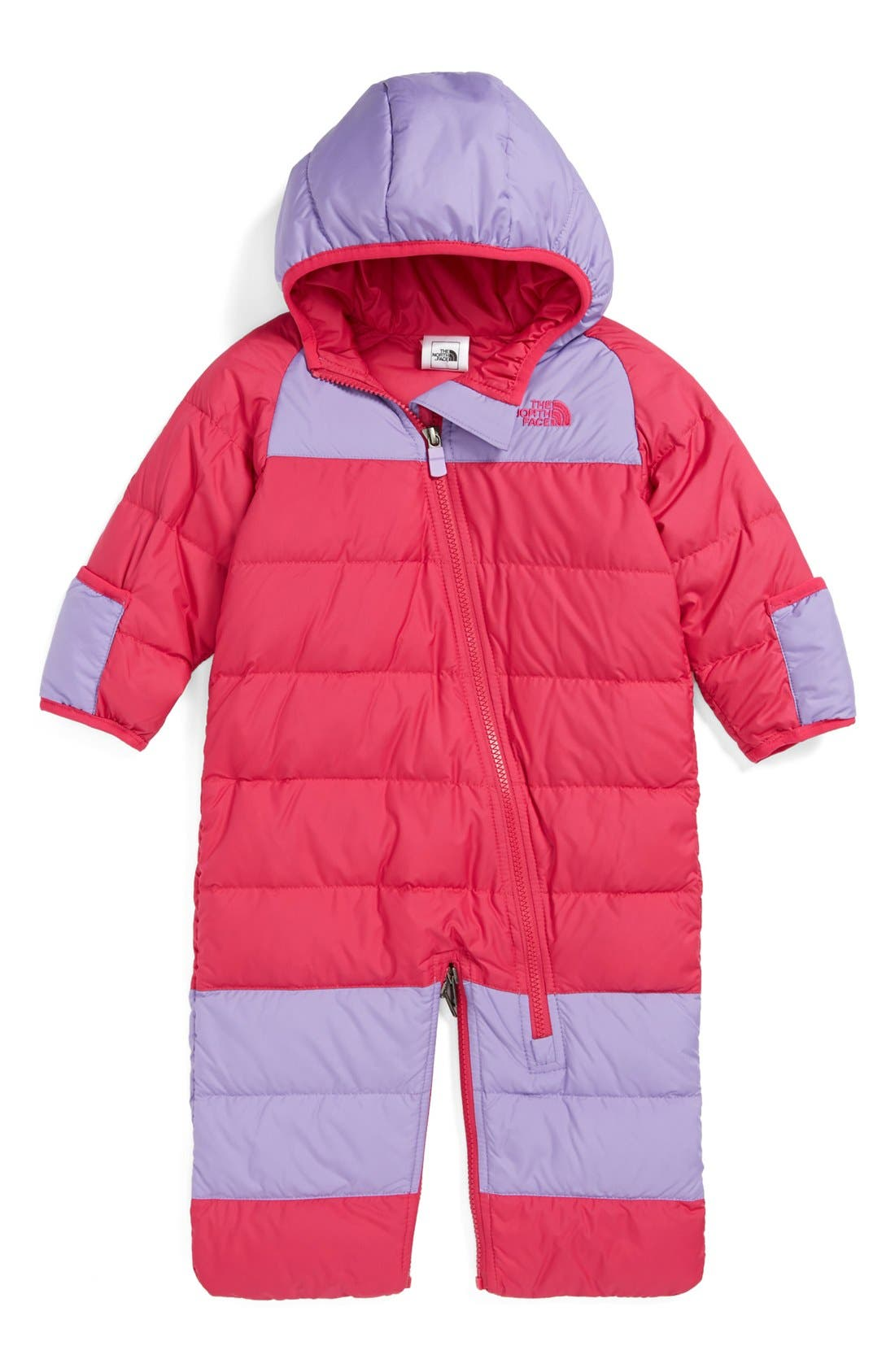 Main Image - The North Face 'Lil' Snuggler' Down Bunting (Baby Girls)