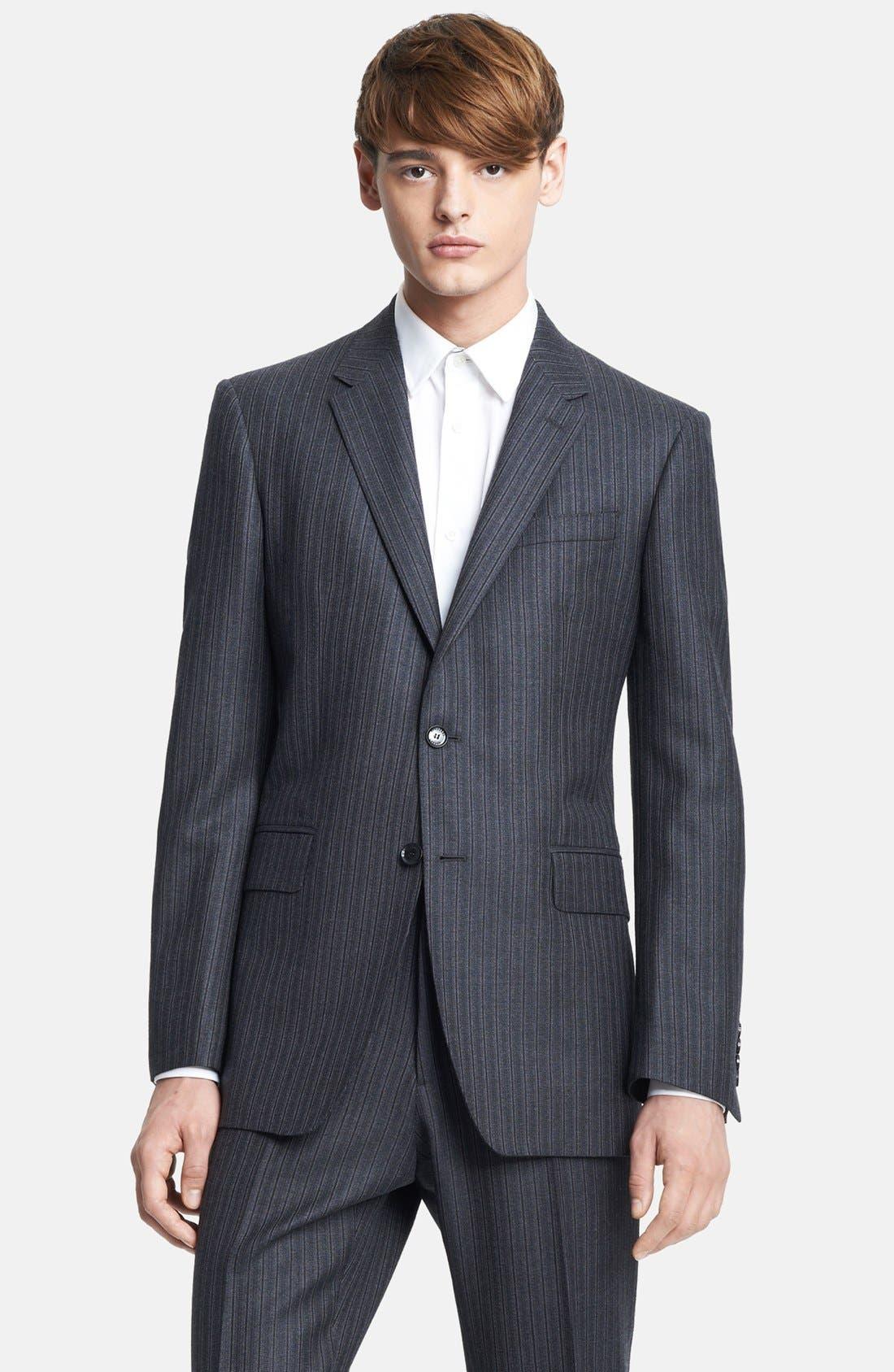 Alternate Image 4  - Burberry London Grey Stripe Wool Suit