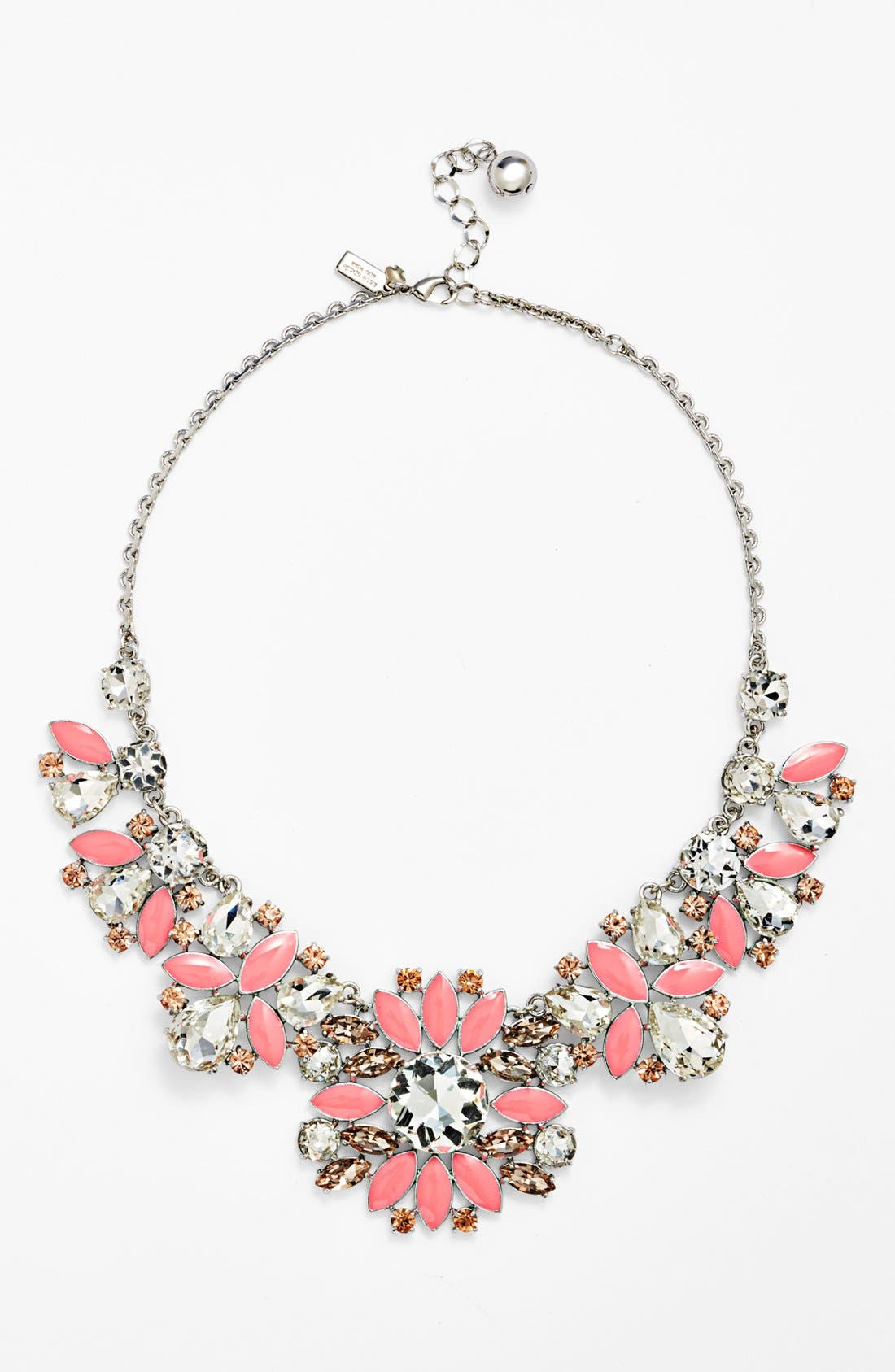 Main Image - kate spade new york 'frosty floral' short bib necklace