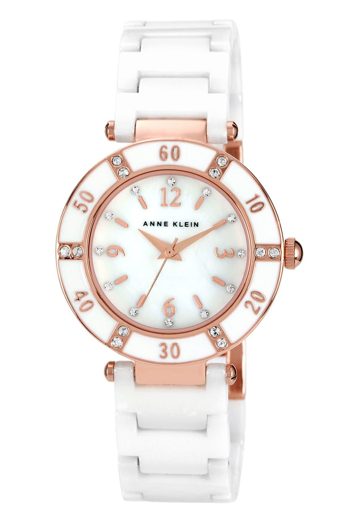 Alternate Image 1 Selected - Anne Klein Round Ceramic Bracelet Watch