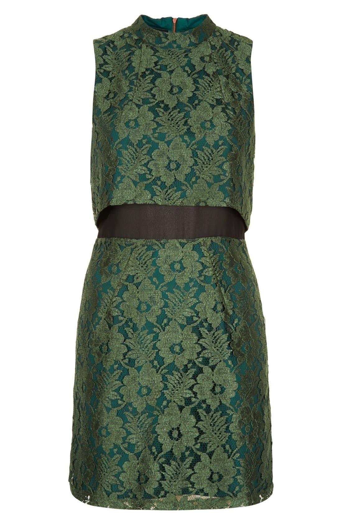 Alternate Image 3  - Topshop Retro Lace Dress