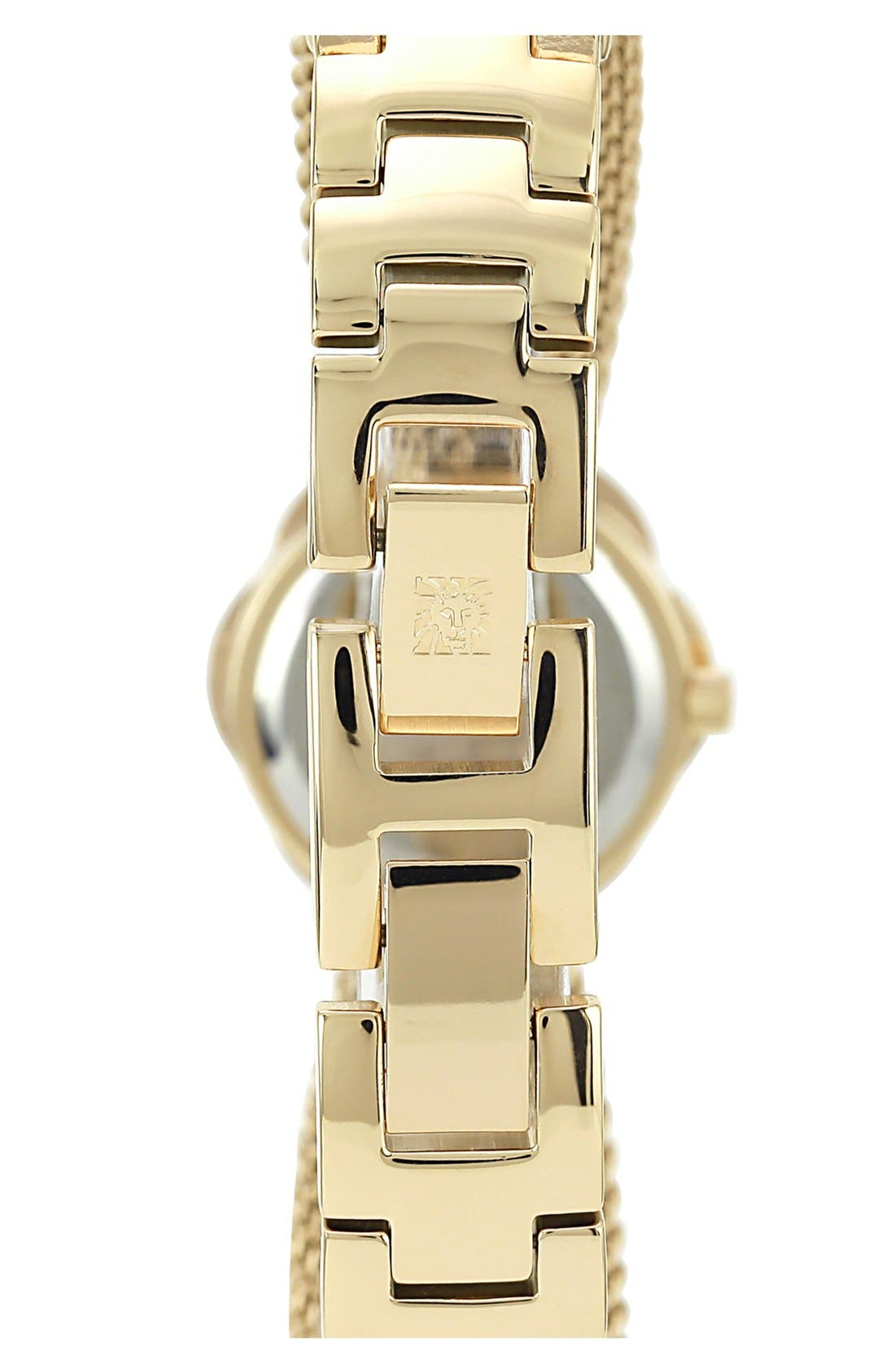 Alternate Image 3  - Anne Klein Flower Case Chain Bracelet Watch, 18mm