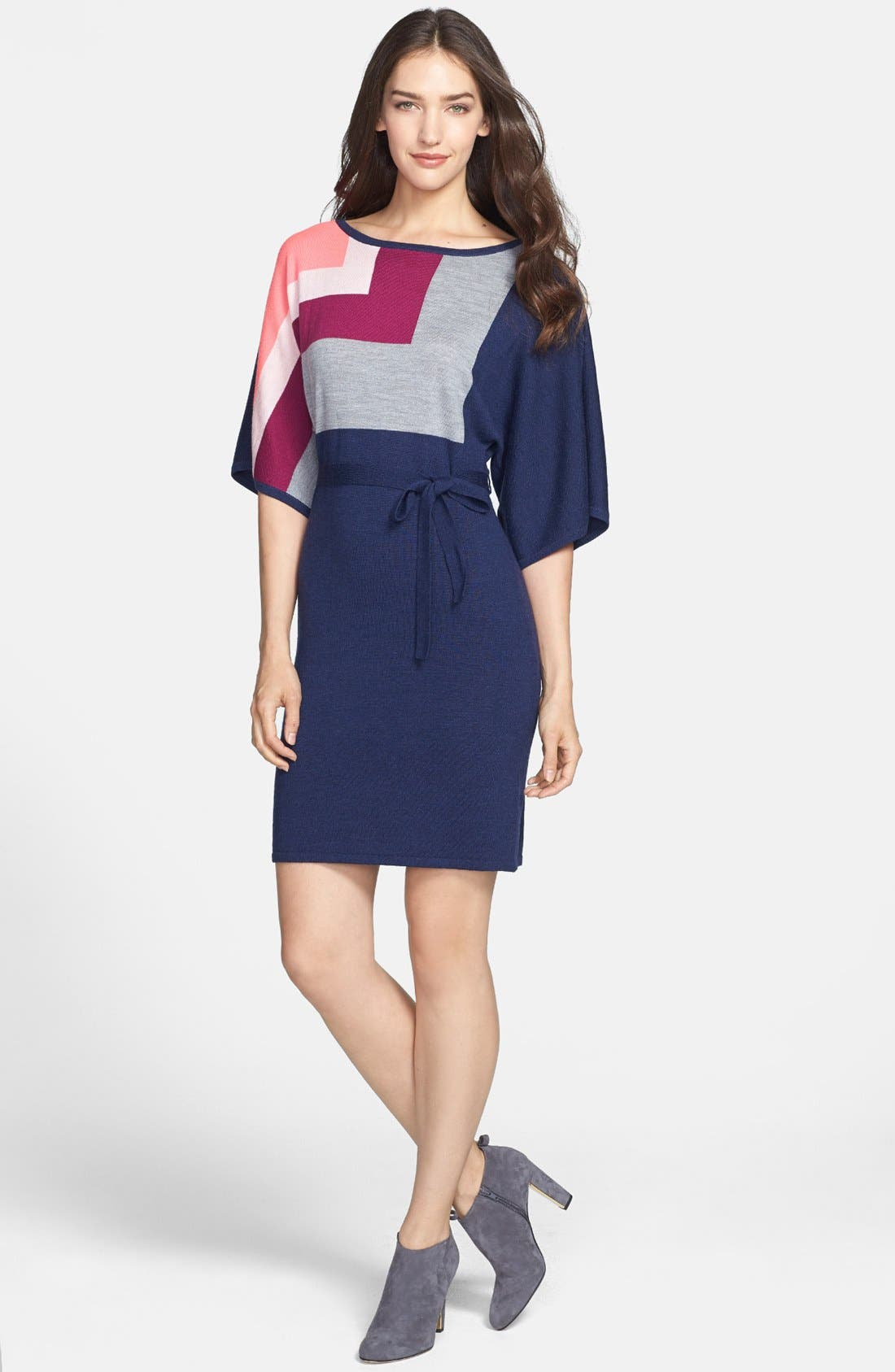 Alternate Image 2  - Trina Turk 'Bonaire' Colorblock Merino Sweater Dress