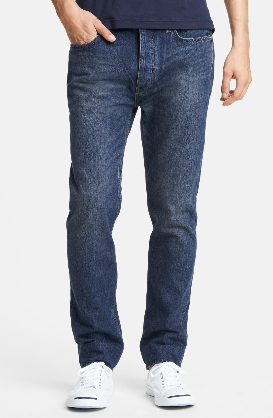 Alternate Image 1 Selected - BLK DNM 'Jeans 9' Straight Leg Jeans (Duane Blue)