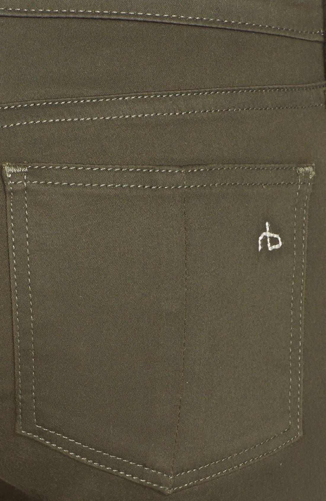 Alternate Image 3  - rag & bone/JEAN 'The Legging' Sateen Skinny Jeans (Army Sateen)