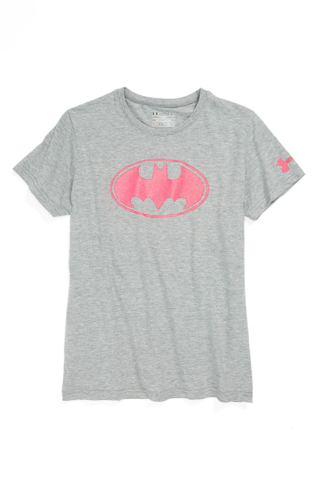 Alternate Image 1 Selected - Under Armour 'Batman' Charged Cotton® Tee (Little Girls & Big Girls)
