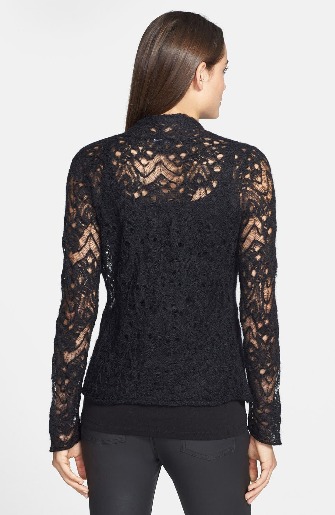 Alternate Image 2  - Eileen Fisher Lace Crochet Cardigan