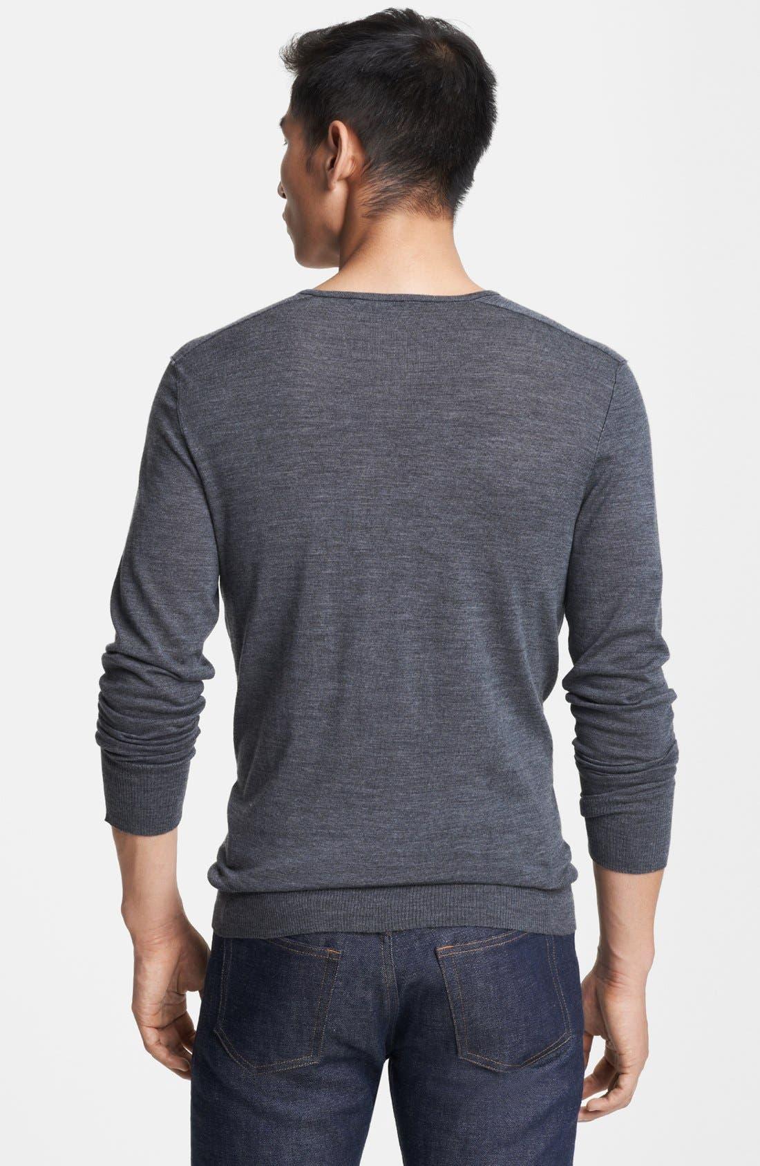 Alternate Image 2  - John Varvatos Collection Merino Wool V-Neck Sweater