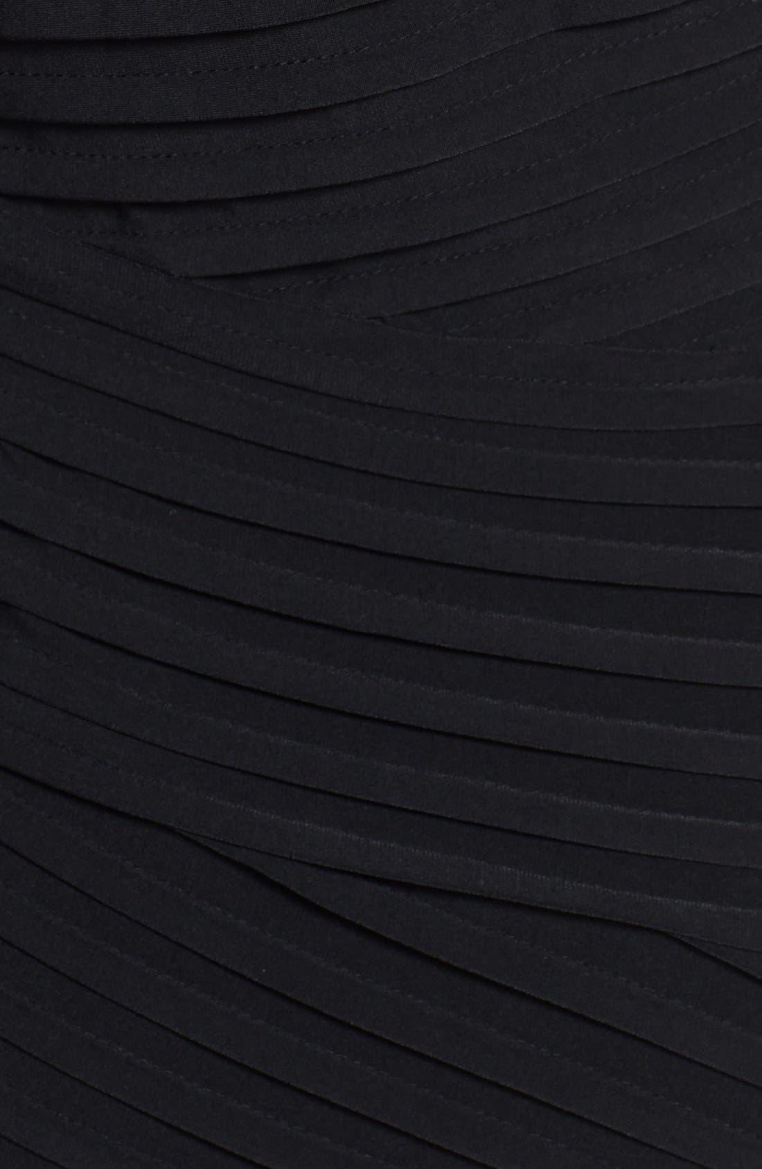 Alternate Image 3  - Calvin Klein Mesh Yoke & Pleat Jersey Sheath Dress