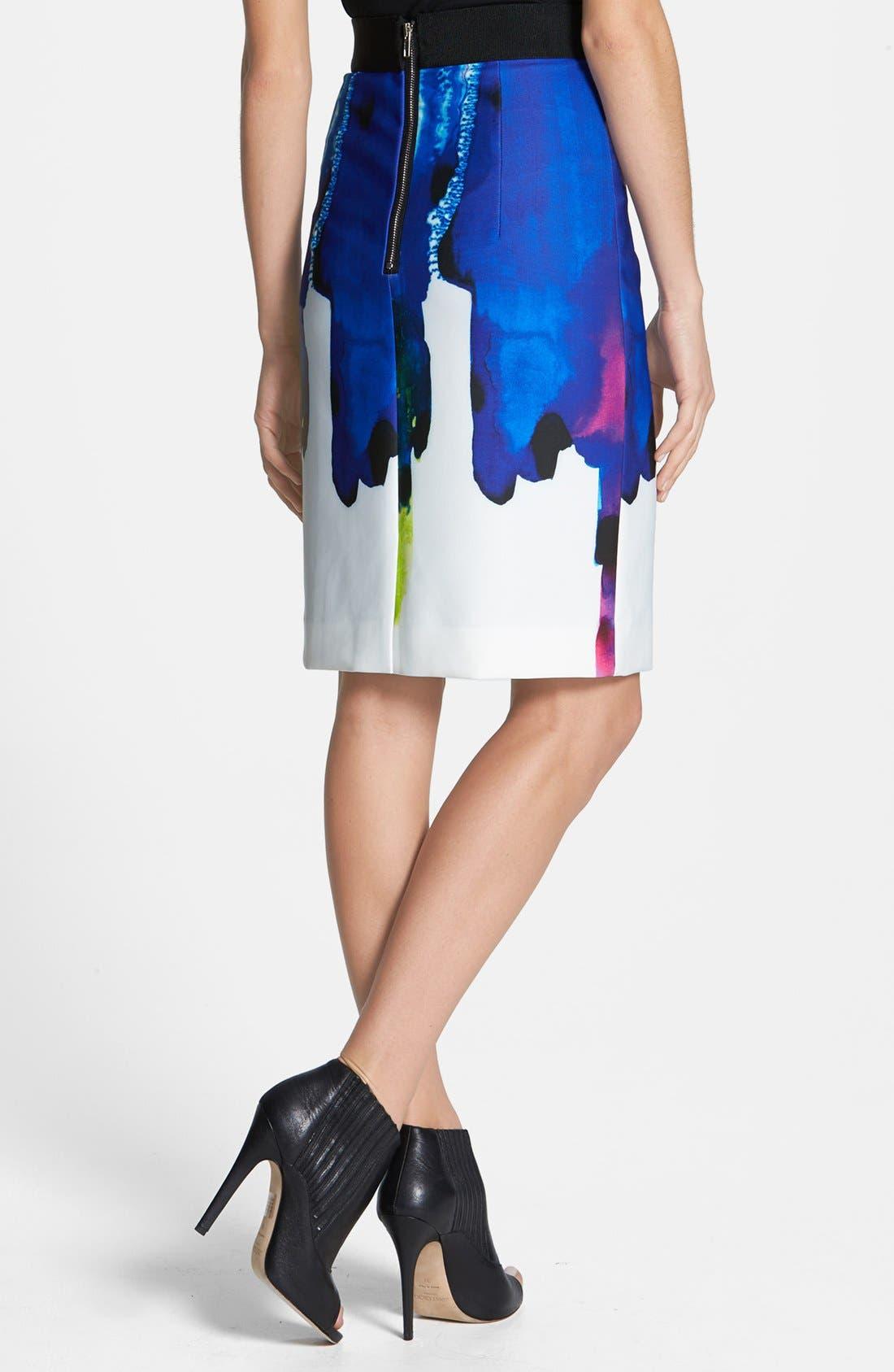 Alternate Image 2  - Milly 'Italian Surf' Neoprene Pencil Skirt