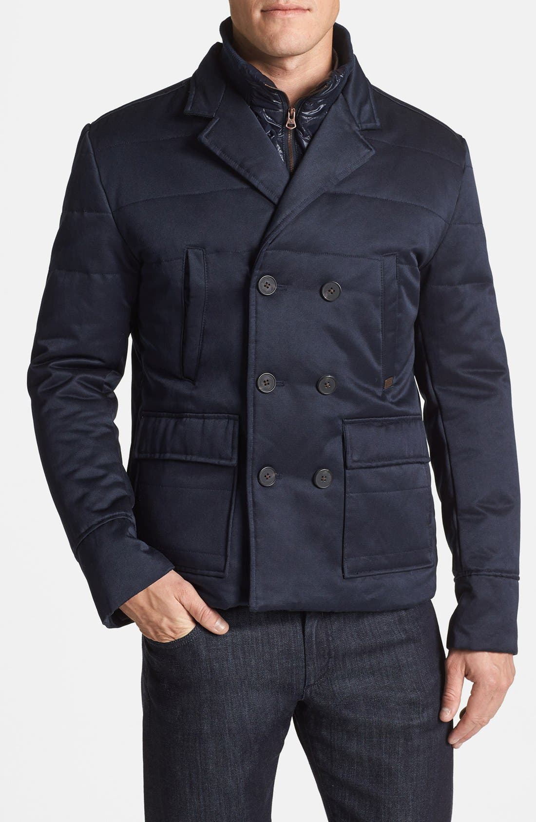 Alternate Image 1 Selected - Antony Morato Slim Fit Double Breasted Jacket