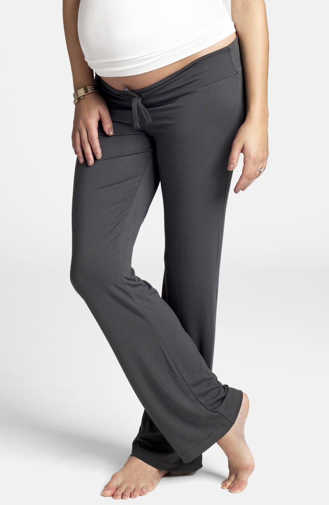 Maternity Lounge Pants,                         Main,                         color, Metal