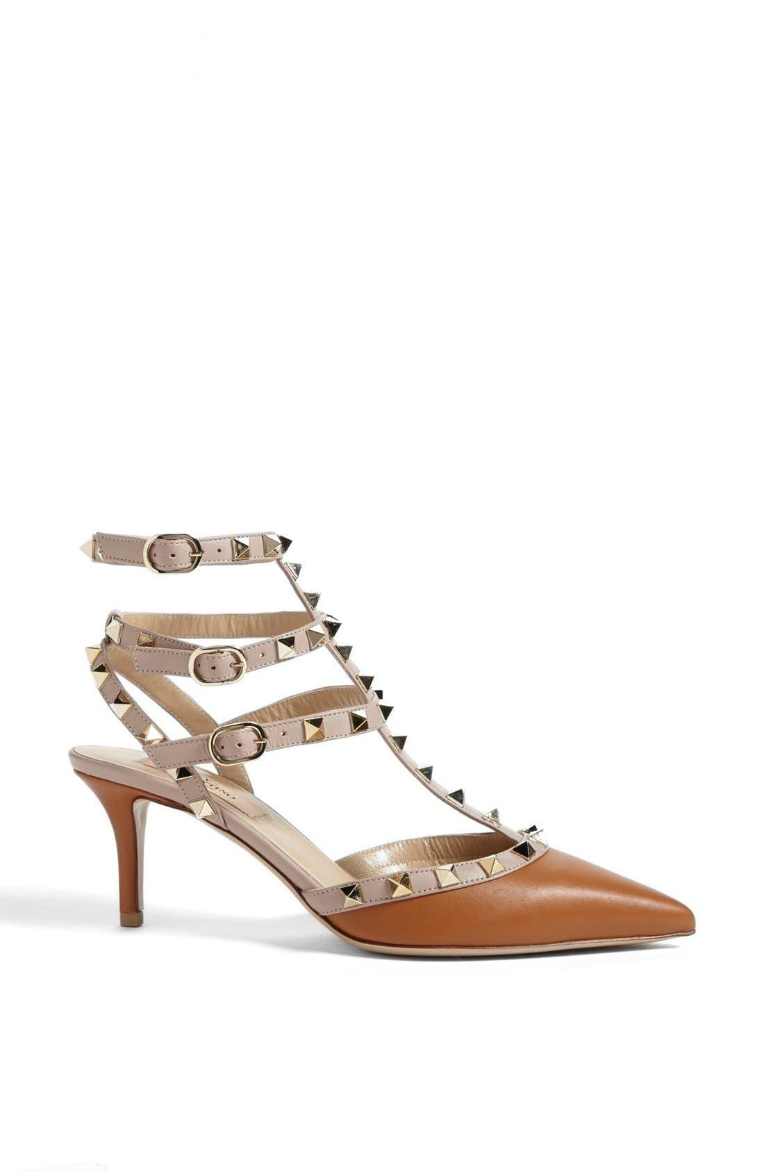 Alternate Image 4  - Valentino 'Rockstud' Triple Ankle Strap Pump